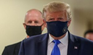 donald trump wear mask in public