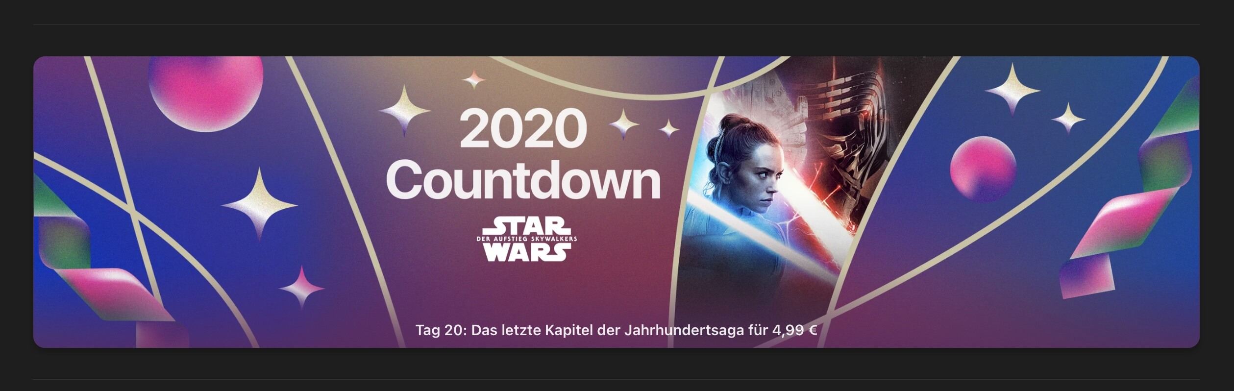 """The Rise of Skywalker """"for € 4.99"""