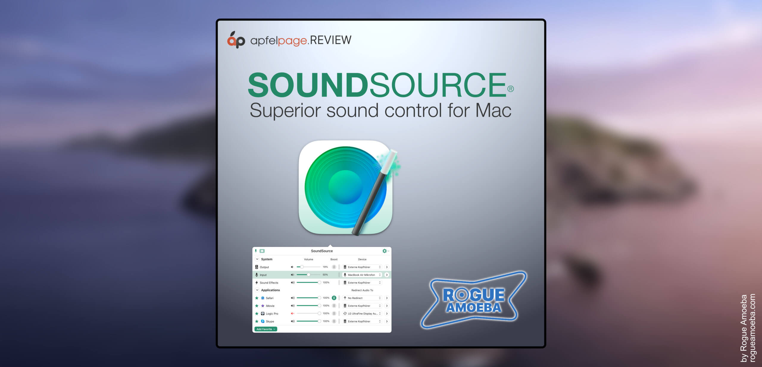 Rogue Amoeba SoundSource put to the test: virtual mixer for macOS