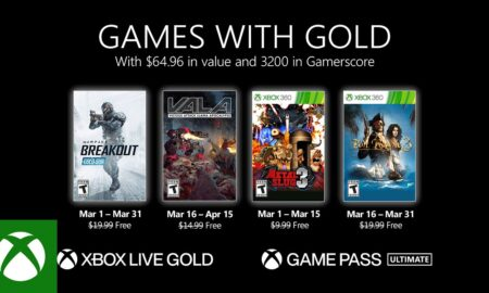 Games with Gold games in March confirmed
